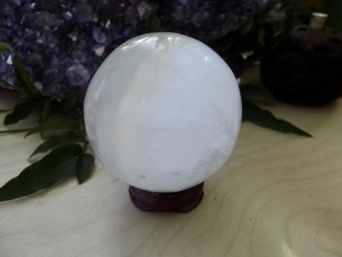 Selenite Polished Sphere