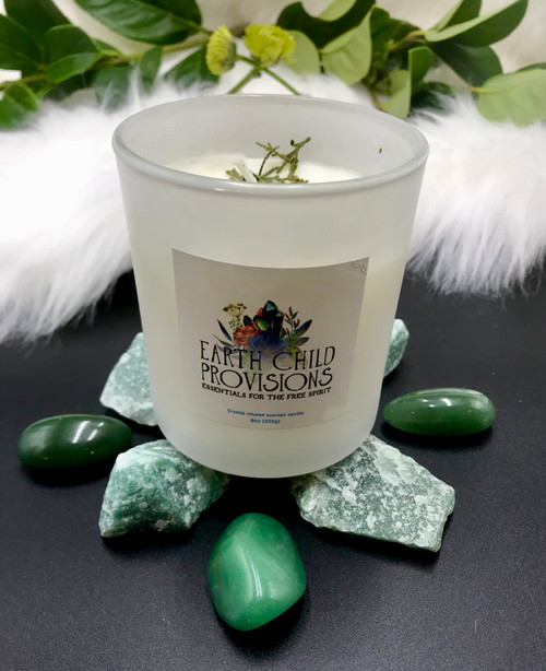Earth Child Provisions Green Aventurine Candle