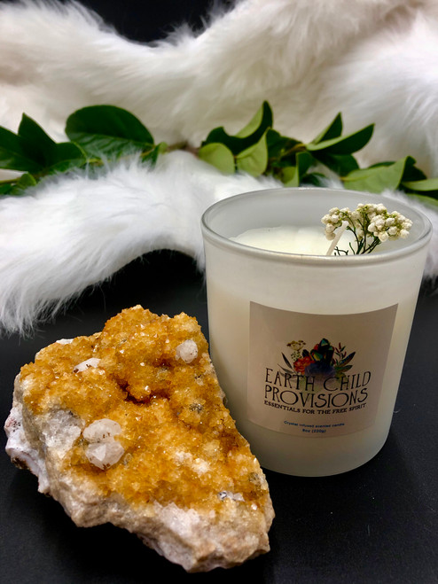 Earth Child Provisions Citrine Candle