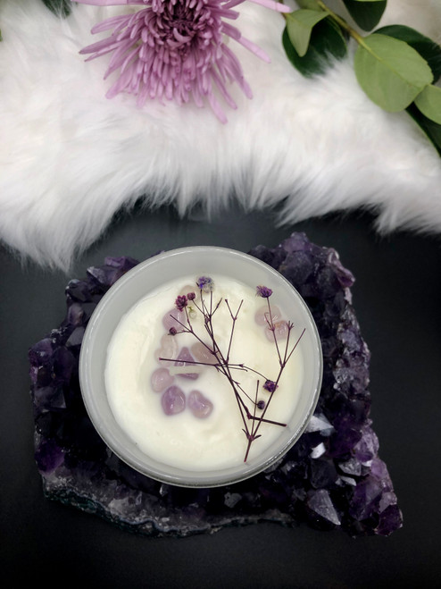 Earth Child Provisions Amethyst Candle