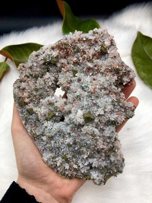 Quartz with Pyrite and Hematite No.1