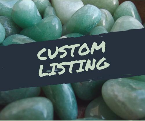 Custom listing - crystal hair combs