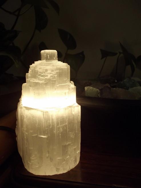 Selenite Lamp 18cm