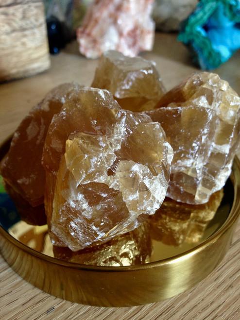 Honey Calcite Natural Chunk