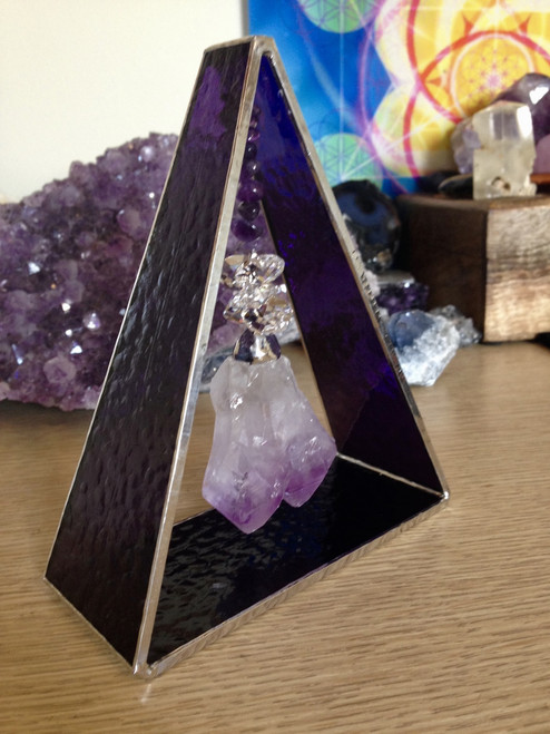Amethyst Led-light Triangle