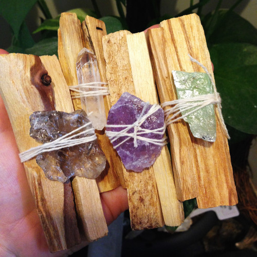 Palo Santo + Crystal Bundle