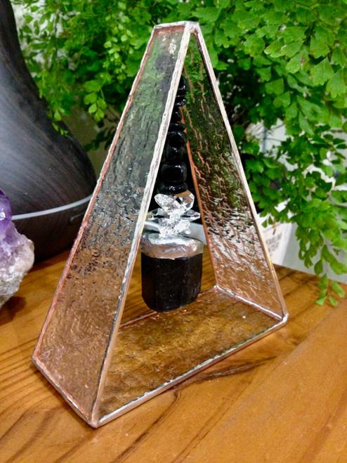 Black Tourmaline Lead-light Triangle