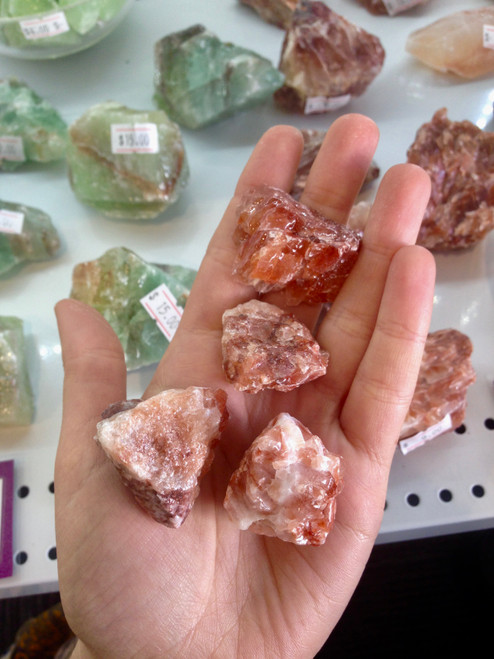 Red Calcite chunk - small