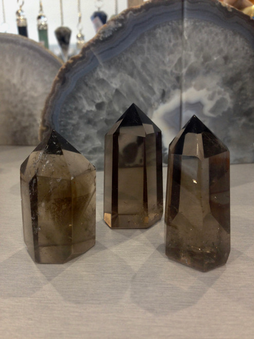 Smokey Quartz point - small