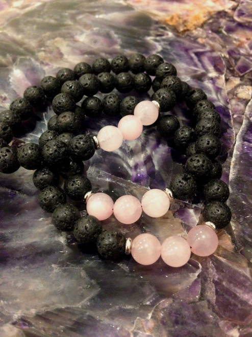 Essential Oil - Rose Quartz Bracelet