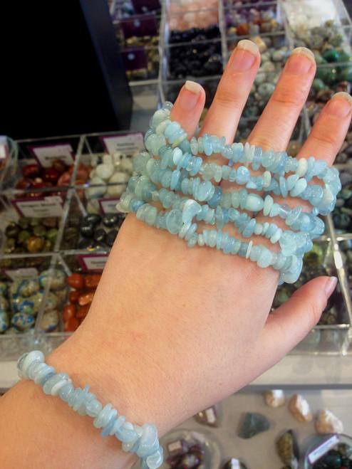 Aquamarine Chip Bracelet