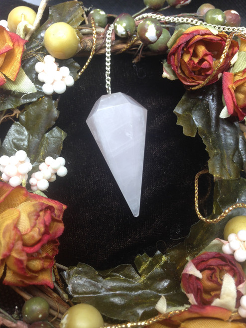 Rose Quartz Pendulum - faceted