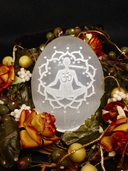 Selenite Meditation Stone