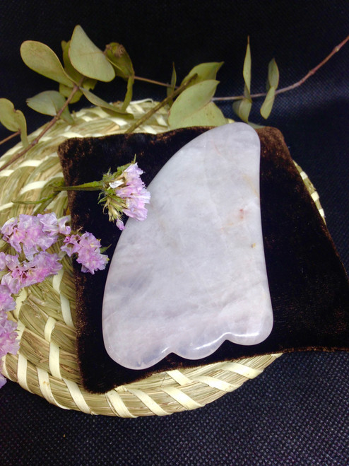 Gua Sha board - Rose Quartz