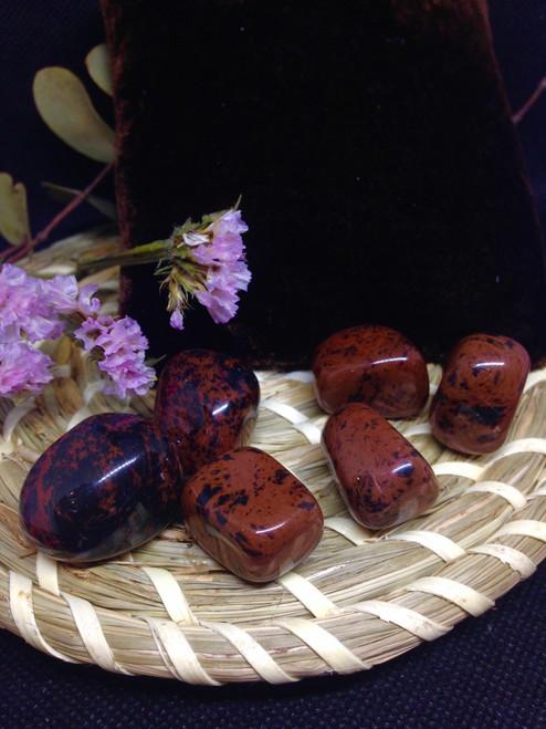 mahogany obsidian tumbled