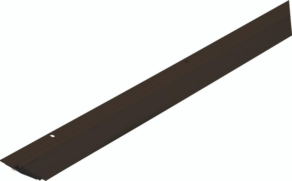"""Triple-Seal Door Seal - Brown Door Sweep 2.125"""" x 36"""" Full Cases of 50"""
