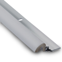 "KC600 Aluminum Gray Weatherstripping 96"" sides x 36"" top: Priced per case of 25"