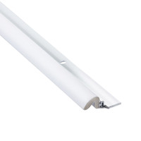 "KC600 Aluminum White Weatherstripping 84"" sides x 36"" top: Priced per case of 25"
