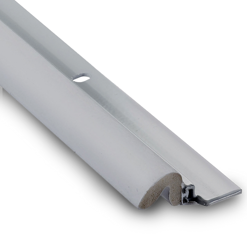 """KC600 Aluminum Gray Weatherstripping 96"""" sides x 36"""" top: Priced per case of 25"""