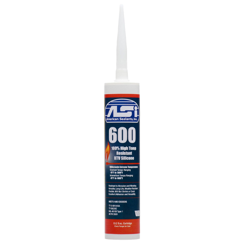 High Temperature Silicone Sealant - Clear: Priced per item