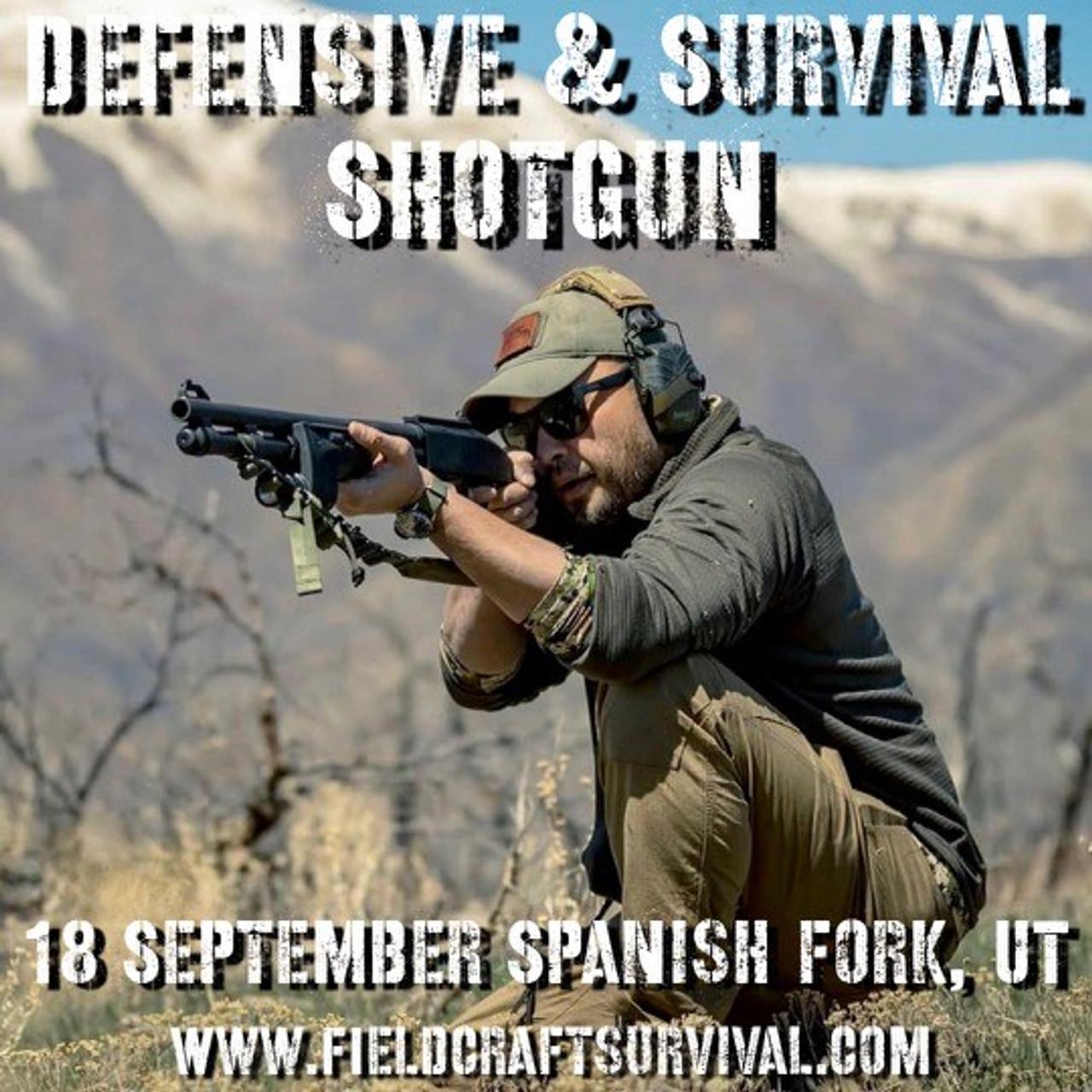 Defensive and Survival Shotgun: 18 September 2021 (Spanish Fork, UT)