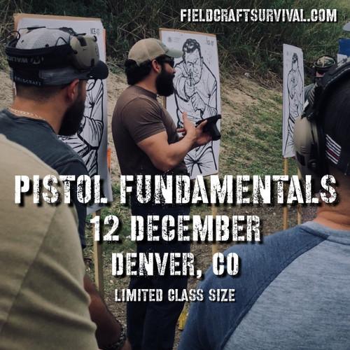 Pistol Fundamentals Course, 12 December 2020 (Denver, CO)