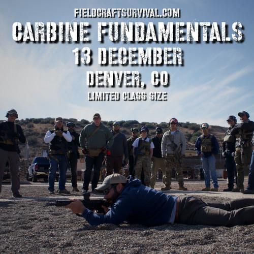 Carbine Fundamentals Course, 13 December 2020 (Denver, CO)