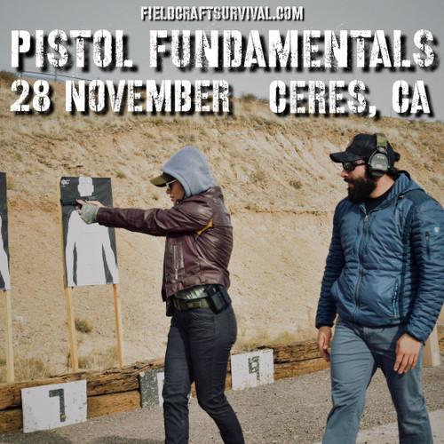 Pistol Fundamentals Course, 28 November 2020 (Ceres, CA)
