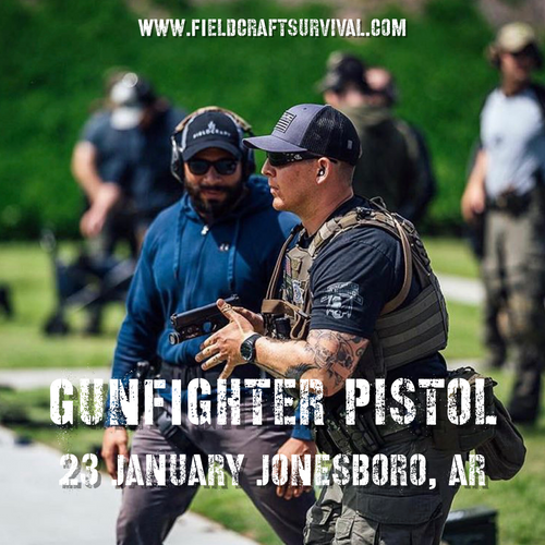 Gun Fighter Pistol Course Level 1: 23 January 2021 (Jonesboro, AR)