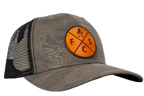 Fieldcraft Survival Leather Patch Topographic Design Hat