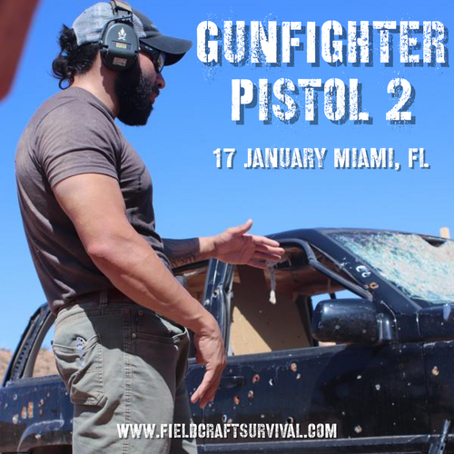 Gun Fighter Pistol Course Level 2: 17 January 2021 (Miami, FL)