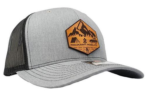 Fieldcraft Mobility Leather Patch Hat (Grey)