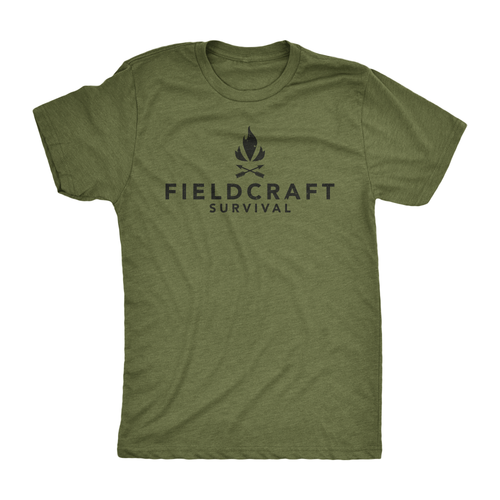 Fieldcraft Survival Logo T-Shirt (Olive Green)