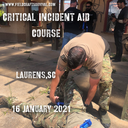 Critical Incident Aid Course 16 January 2021 (Laurens, SC )