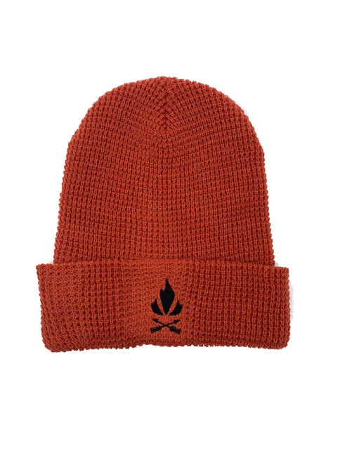 Fieldcraft Survival Waffle Knit Beanie-Rust