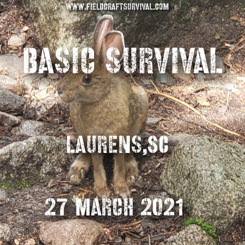 Basic Survival Skills Class 27 March 2021 (Laurens SC)