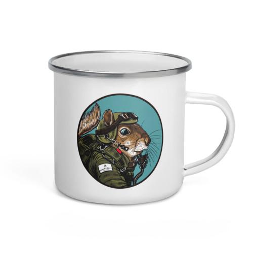Pilot Squirrel Enamel Mug