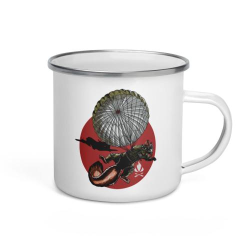 Parachute Squirrel Enamel Mug