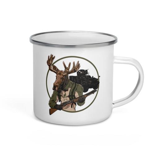 Moose Enforcer Enamel Mug
