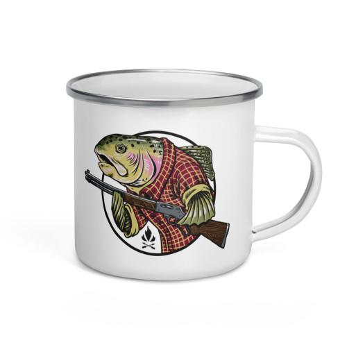 Trout Homesteader Enamel Mug