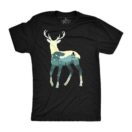 Deer By The Lake T-Shirt