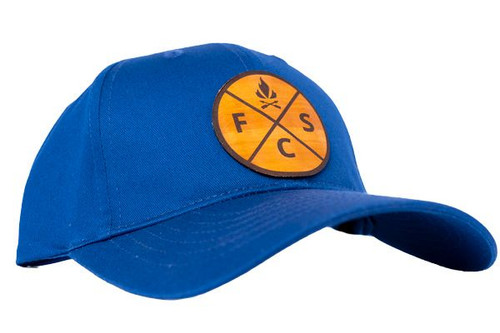 Youth Fieldcraft Survival Leather Patch Hat (Royal Blue)