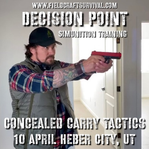 Decision Point: Concealed Carry Tactics (SIMS): 10 April 2021 (Heber City, UT)