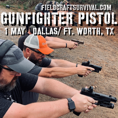 Gun Fighter Pistol Level 1: 1 May 2021 (Dallas/Ft. Worth, TX)