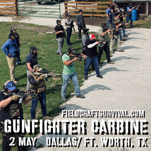 Gun Fighter Carbine Level 1: 2 May 2021 (Dallas/Ft. Worth, TX)