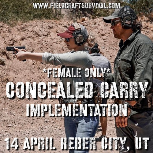 Concealed Carry Implementation: *Female Only*: 14 April 2021 (Heber City, UT)
