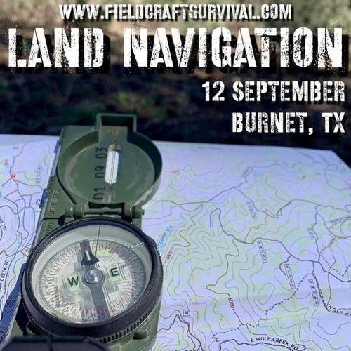 Land Navigation: 12 September 2021 (Burnet, TX)