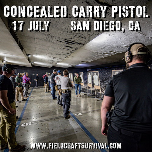 Concealed Carry Pistol: 17 July 2021 (San Diego, CA)