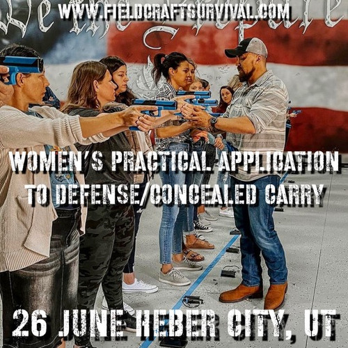 Womens Practical Application to Defense/Concealed Carry: 26 June 2021 (Heber City, UT (HQ))