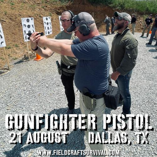 Gun Fighter Pistol Level 1: 21 August 2021 (Dallas/Ft. Worth, TX)